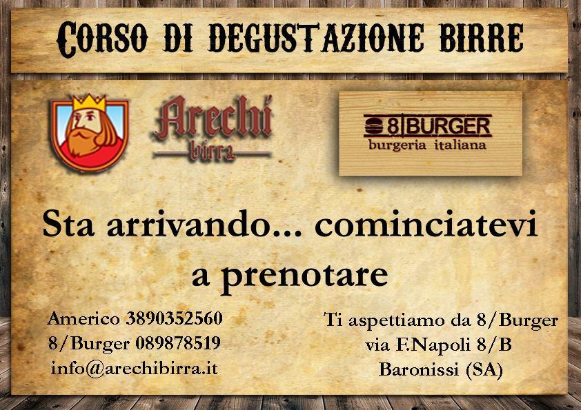 Corso di degustazione Arechi Birra & 8/Burger